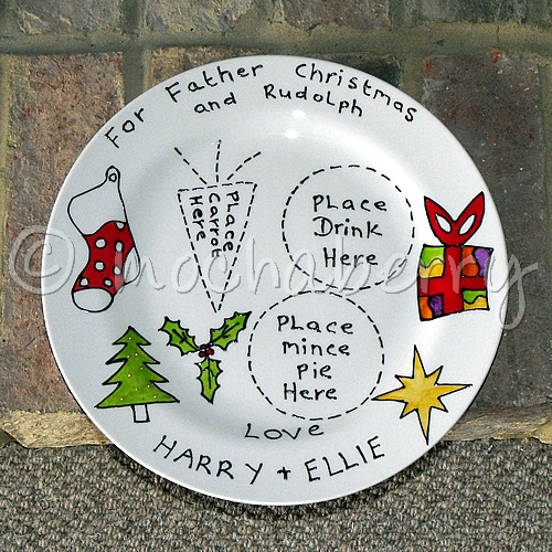 Plate For Father Christmas Craft Carrot